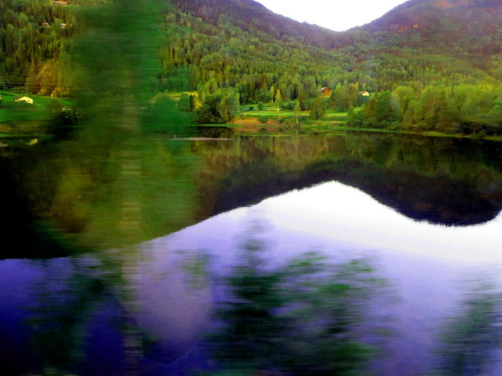 Trippige Landschaft