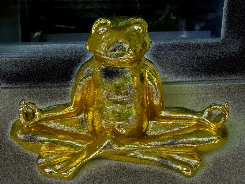 Frosch als Buddha